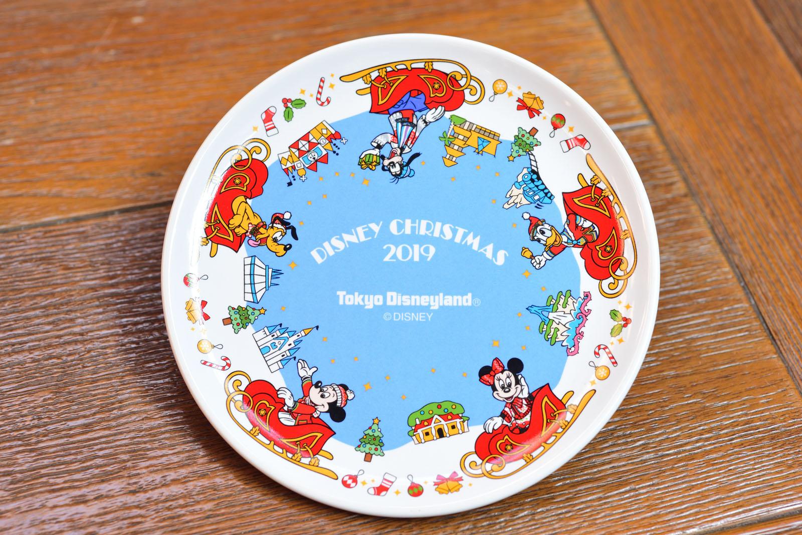 東京ディズニーランド ディズニー・クリスマス2019 クランベリー&紅茶のケーキ、スーベニアプレート付き