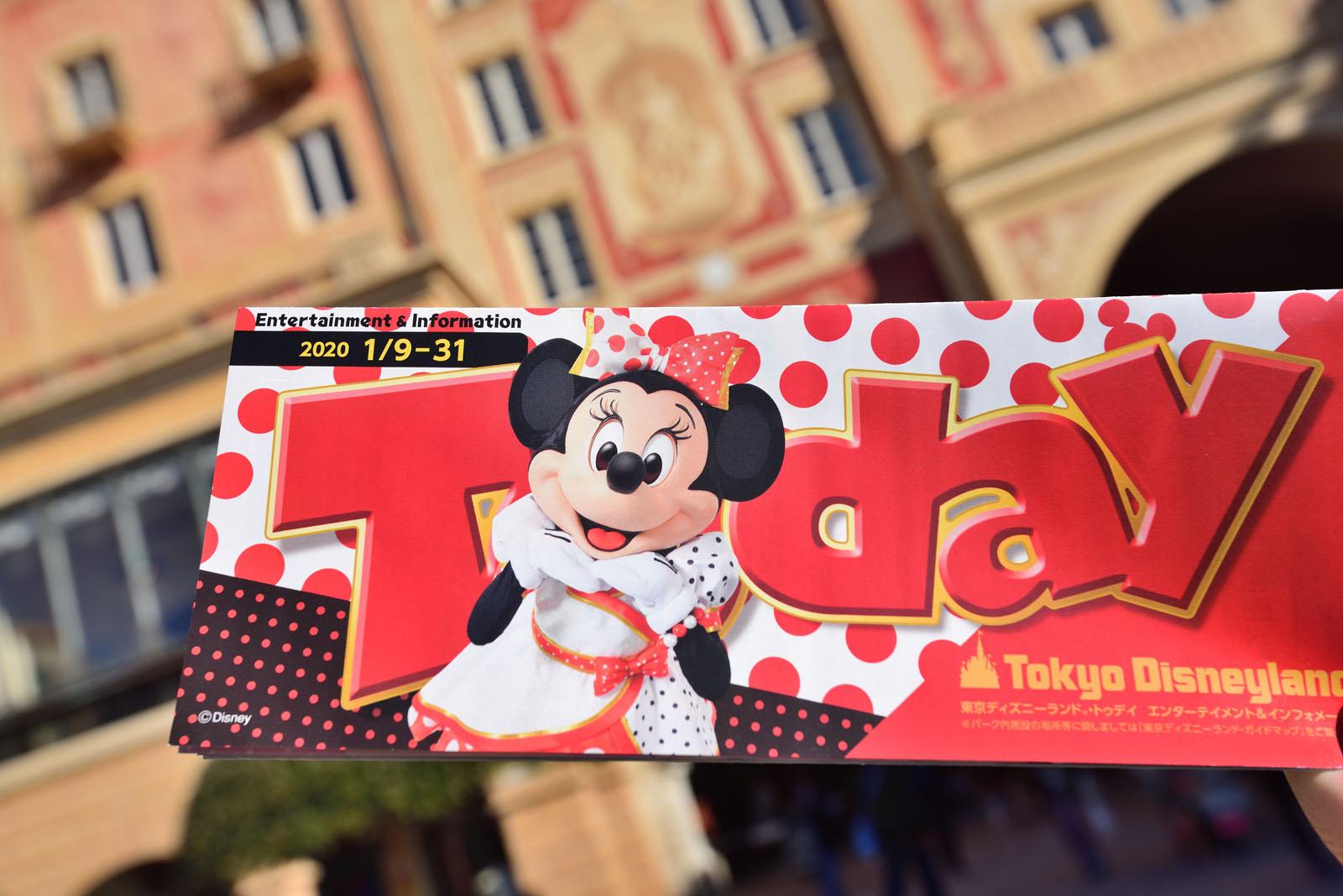 東京ディズニーランド Today 2020年1月9日~1月31日 ミニー