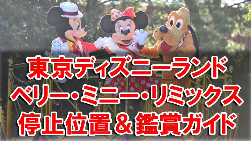 TDL ベリー・ミニー・リミックス フロート停止位置 鑑賞ガイド